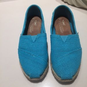 Toms Shoes - Toms turquoise flat espadrilles